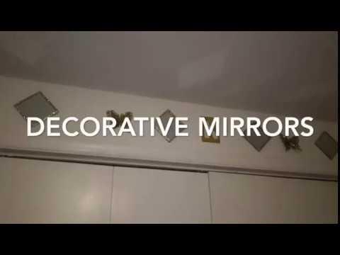 ~DIY~ Dollar Tree Mirrored Coasters used as Decorative Wall Decor