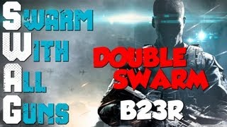 swag a letter b23r double swarm black ops 2 gameplay