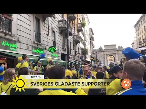 Här är glädjen från svenska fansen i Milano! - Nyhetsmorgon (TV4)