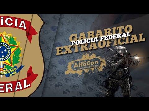 PF - Gabarito Extraoficial Polícia Federal 2018 - Correção da Prova - AO VIVO - AlfaCon