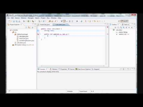 Java Programming - 13 - Creating a calculator class with methods