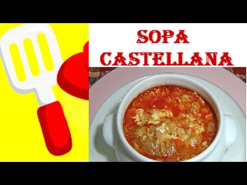 Sopa castellana sopa de ajo receta casera explicada paso - Sopa castellana casera ...