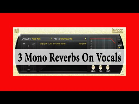 3 Mono Reverbs on Vocals | Theo Nt | theont.com