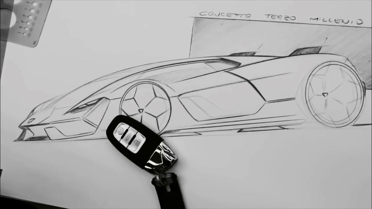Lamborghini Terzo Millennio Designing Process Youtube