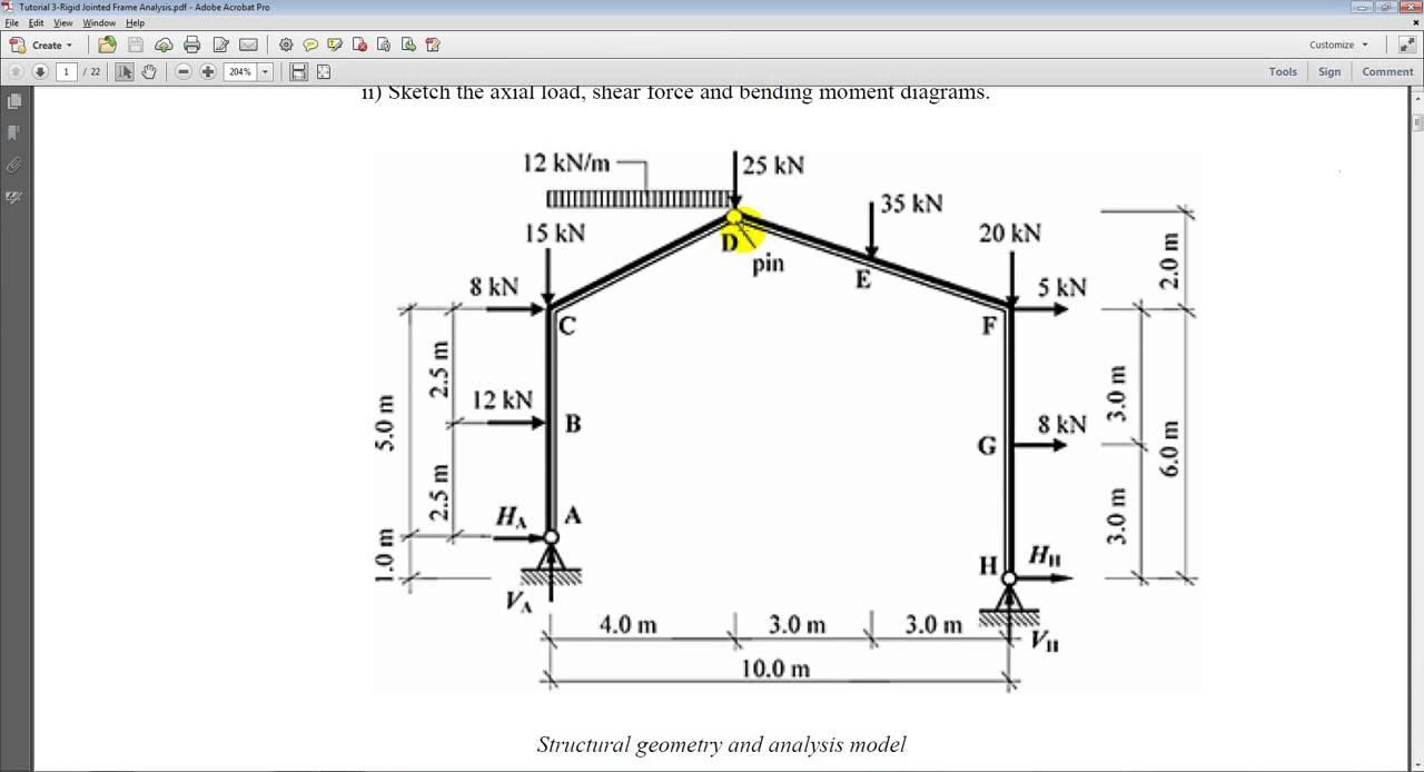 03 Rigid Frame Analysis - YouTube