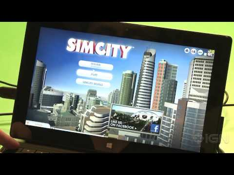 Running SimCity on the Microsoft Surface Pro