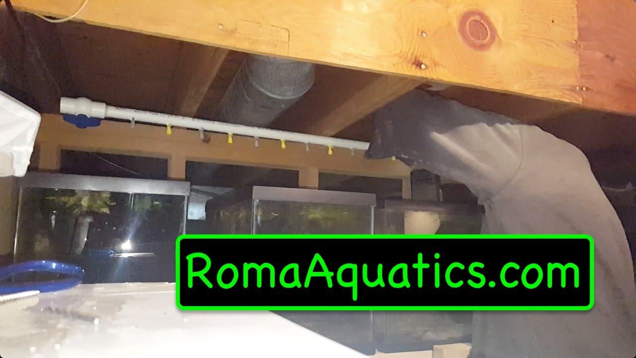 DIY Central Air System For Aquarium Racks - RomaAquatics.com 🆒 - YouTube
