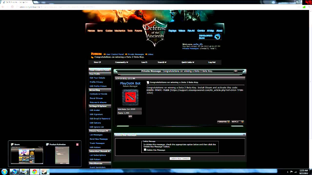 how to activate dota 2 beta key on steam youtube