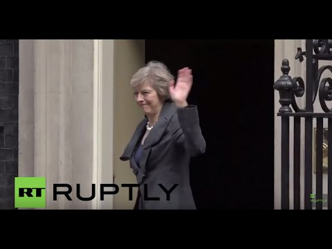 UK: Theresa May arrives at 10 Downing Street for Cameron's last Cabinet