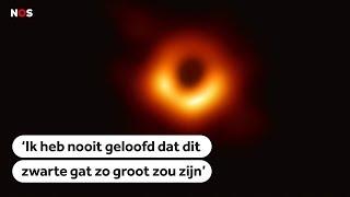 Bekijk de historische eerste foto van een zwart gat