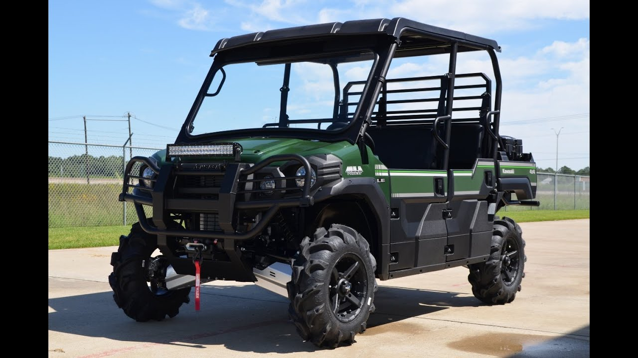 "2015 kawasaki mule pro fxt le with 28"" tires, stereo, winch and"