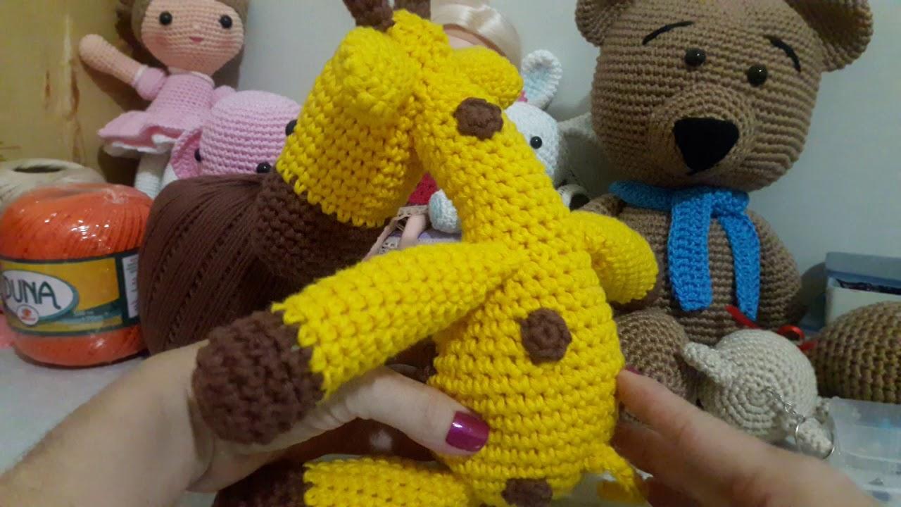 Amigurumi de Crochê Girafa Gigi 34 cm   Arquitetas Express   720x1280