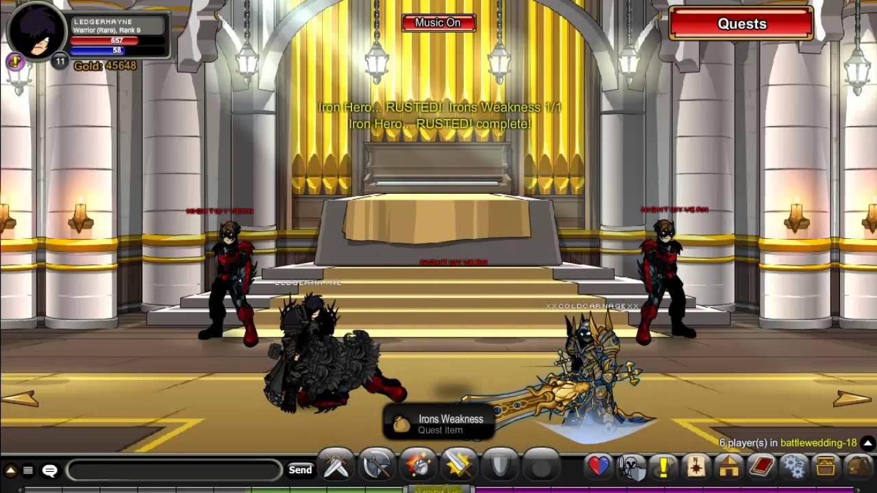 AQW Artix Wedding FULL Walkthrough Join Battlewedding Lord of