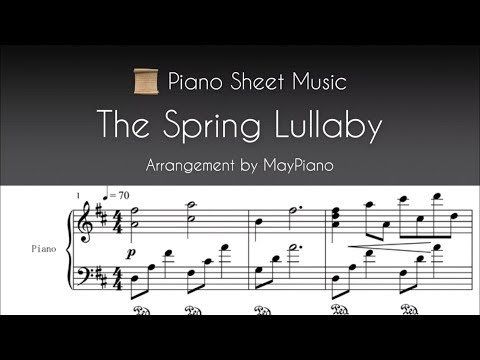 Piano Sheet Music - The Spring Lullaby - Dancing Line
