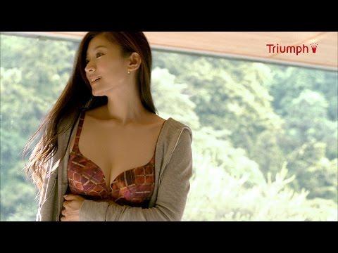 篠原涼子、秋のホテルで下着姿に… 「トリンプ」新CM公開
