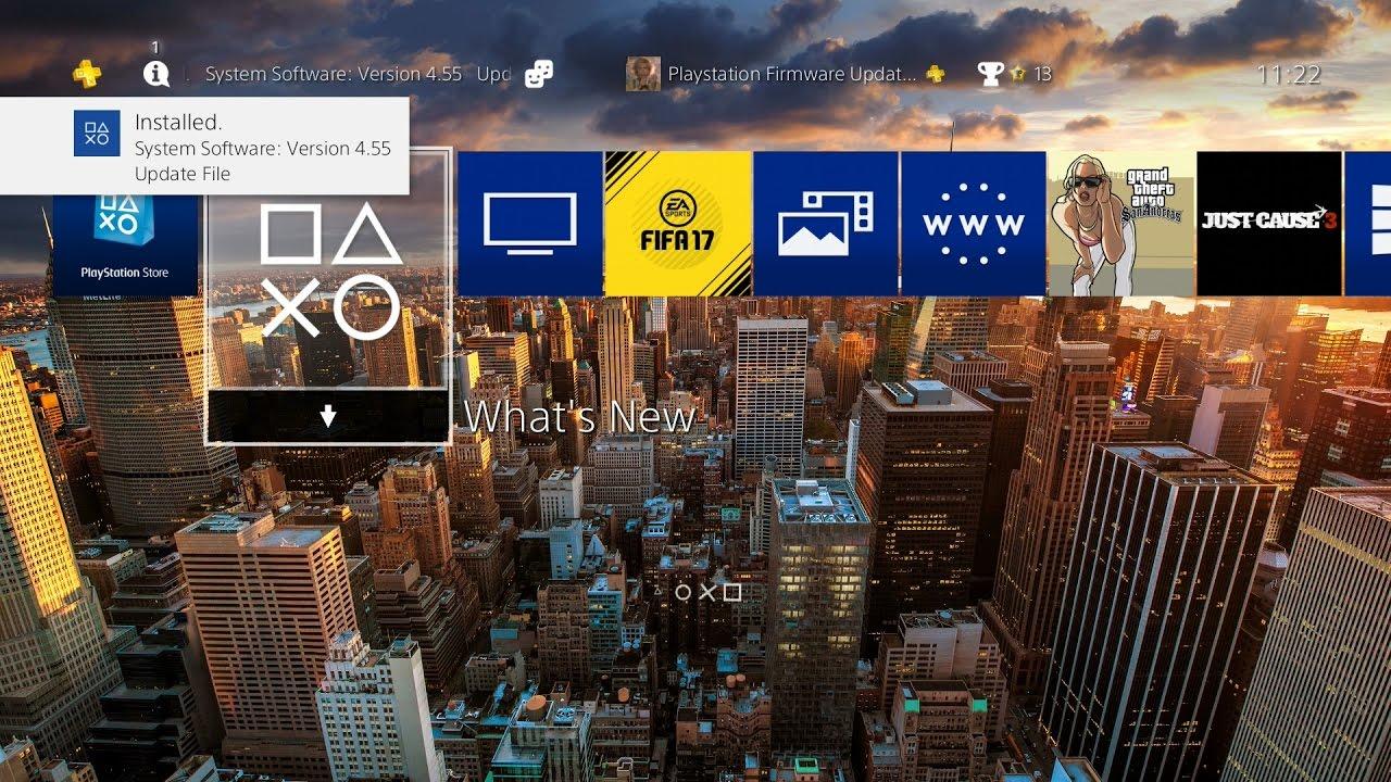PS4 Update 4.55