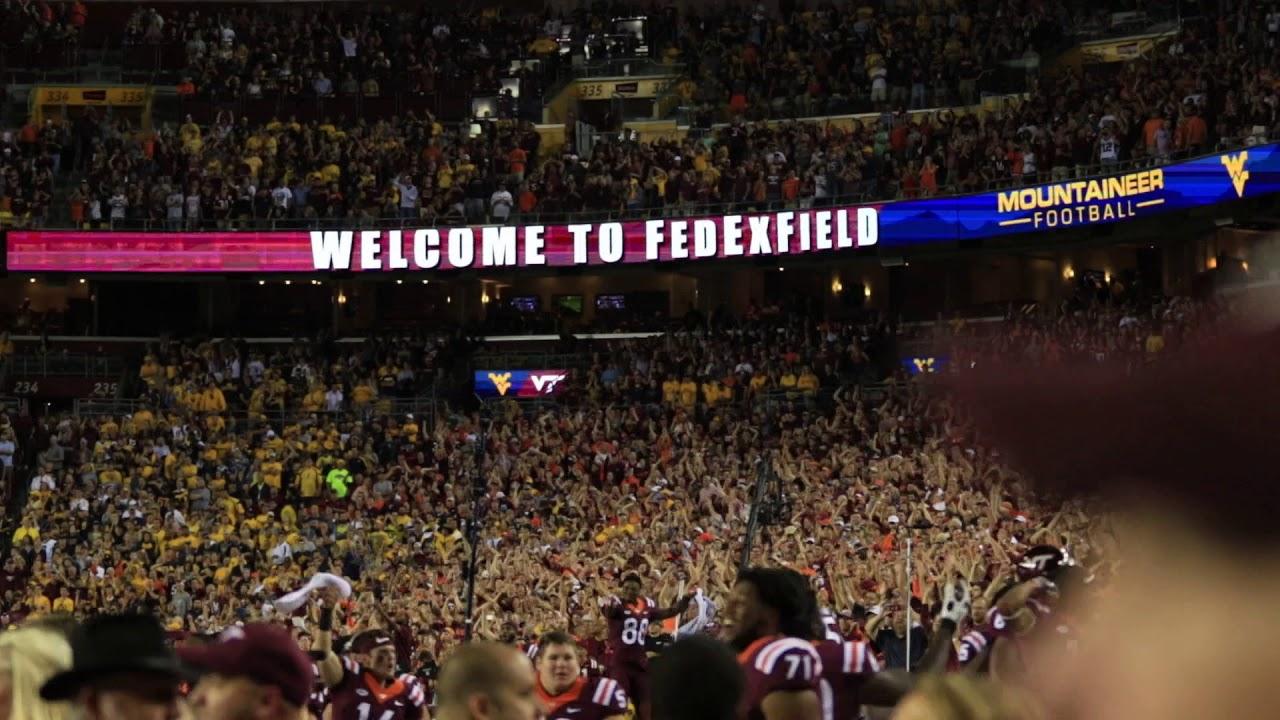 Virginia Tech's Enter Sandman Entrance Against West Virginia | The