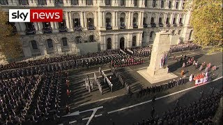 Armistice 100: Watch the UK fall silent on the 11th hour