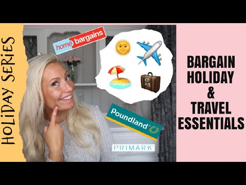 BARGAIN HOLIDAY AND TRAVEL ESSENTIALS & HACKS!!!   FROM POUNDLAND, HOME BARGAINS PRIMARK AND AMAZON!