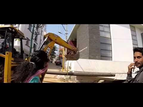 Cauvery Water Pipeline work In progress   Bengaluru