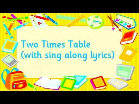 Two Times Table - YouTube