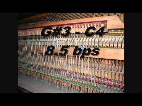 Piano Tuning Temperament F3 to F4