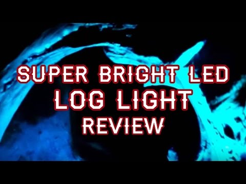 How-to Make a Super Bright LED Log Light Review