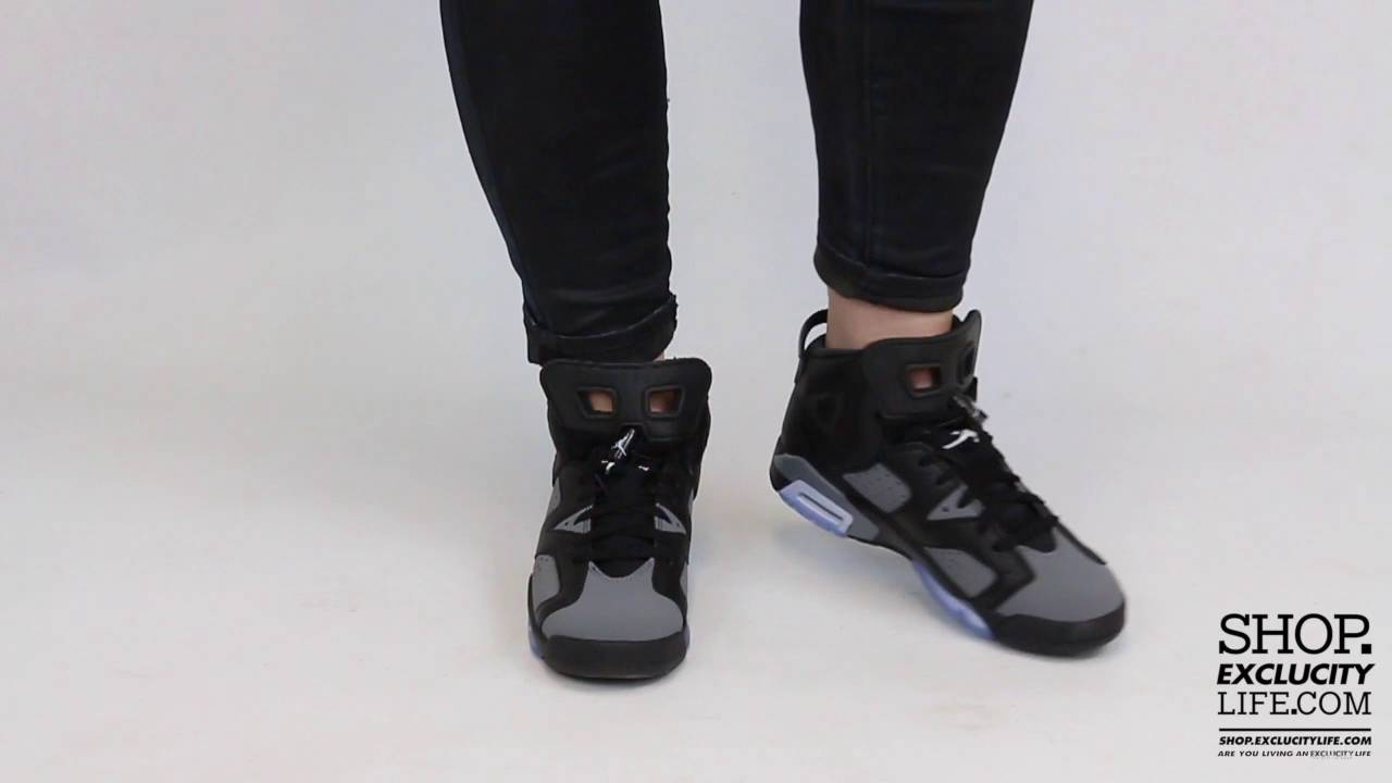 fed086bbb54e99 Women s Air Jordan 6 Retro Cool Grey On feet Video at Exclucity ...