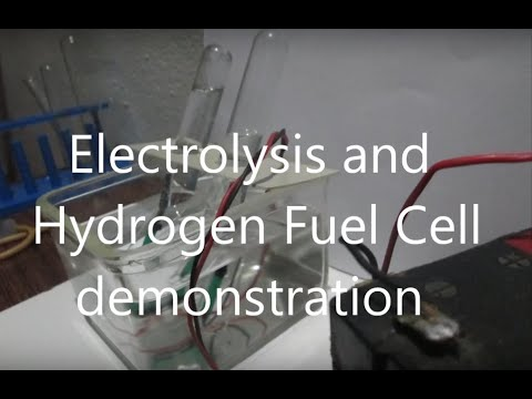 Electrolysis and Hydrogen Fuel Cell Experiment
