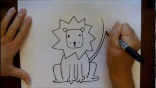 How To Draw A Cartoon Lion Step-by-Step Tutorial