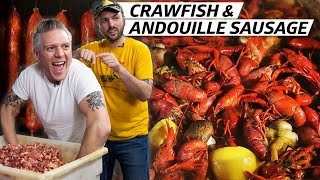 Making Smoky Andouille Sausage for a Crawfish Boil in New Orleans — Prime Time