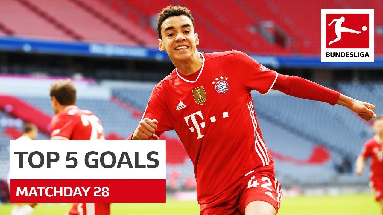 Top 5 Goals • Musiala, Reus, Jovic & More