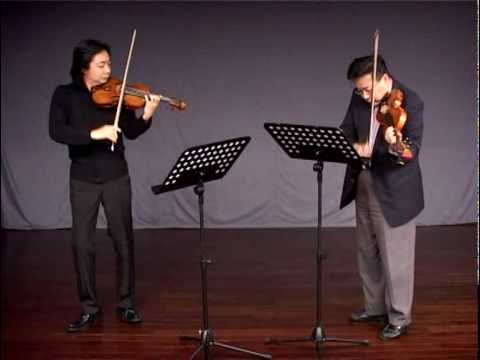 Beriot Duo Concertante No.1 for 2 violins, 1st movt