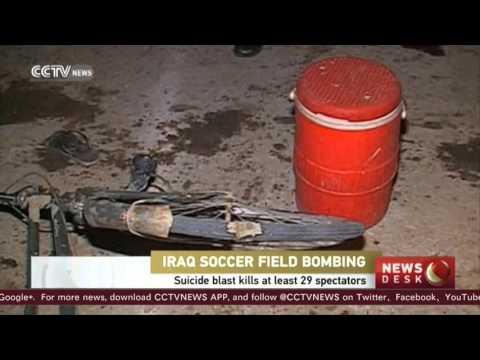 Suicide blast kills at least 29 spectators at Iraq soccer field