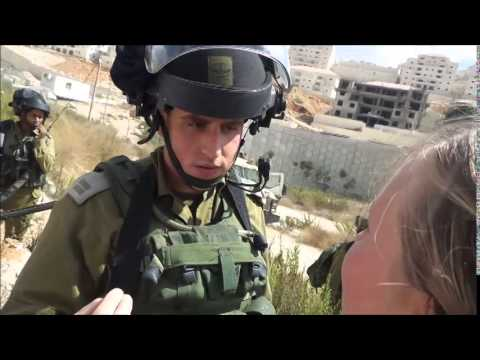 Israeli soldier gets told that this is Palestine not Israel.