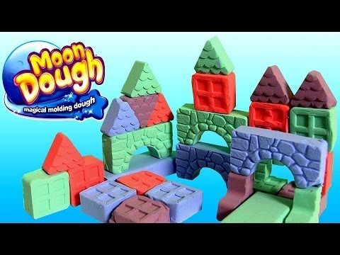Thumbnail: Moon Dough Push 'N Pop Blocks Building Set Masas Bloques Y Triangulos Pasta Magica Play Doh
