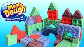 Moon Dough Push 'n Pop Blocks Building Set Masas Bloques Y Triangulos Pasta Magica Play Doh