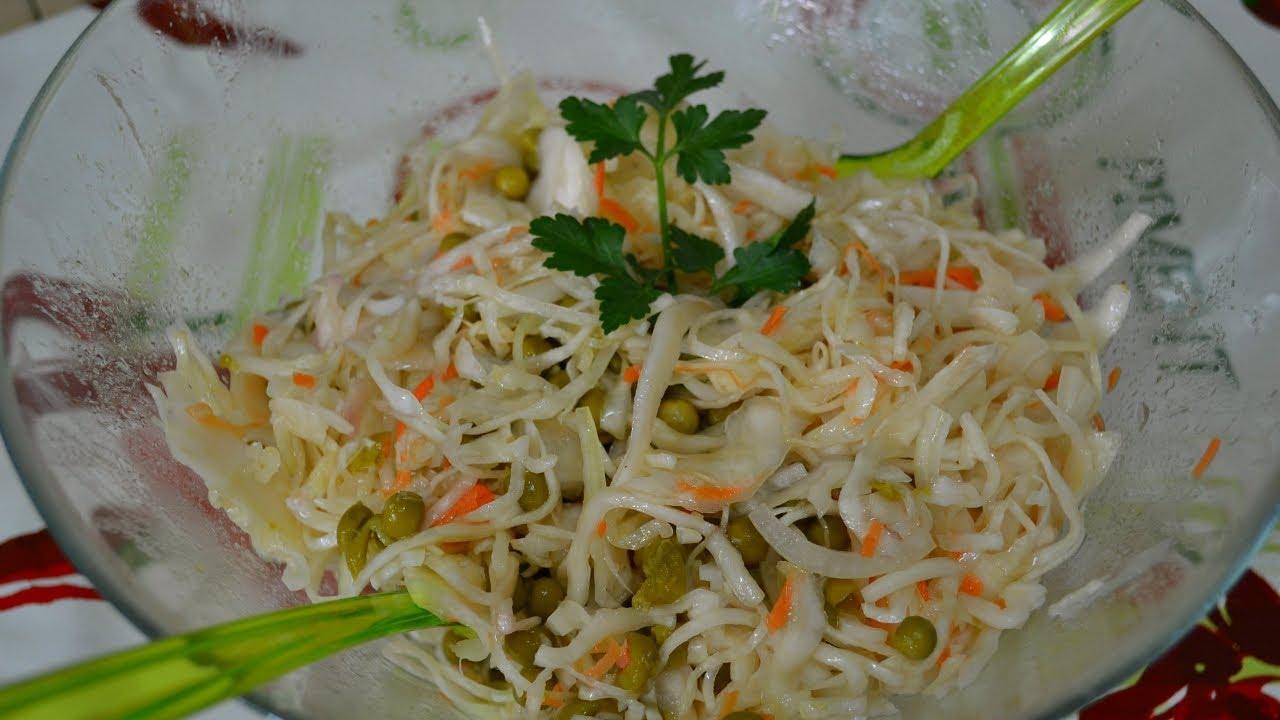 салат из капусты квашеной рецепт с фото