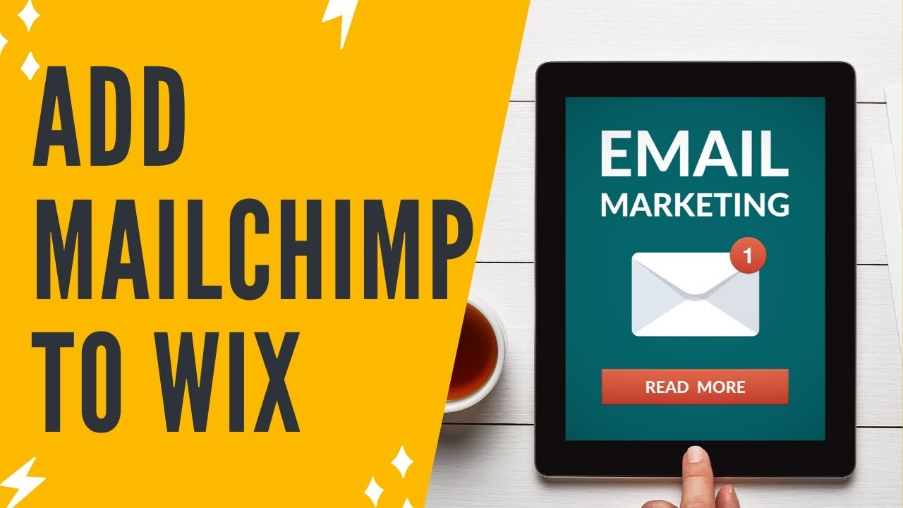 HOW TO ADD MAILCHIMP TO YOUR WIX ACCOUNT