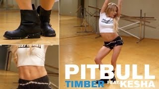 Repeat youtube video Pitbull ft. Ke$ha - Timber (Dance Tutorial)