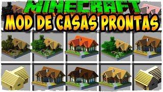 Minecraft Casa Mod: o JEITO mais RÁPIDO de FAZER uma CASA!? - MOD BONITO E CASA ACONCHEGANTE