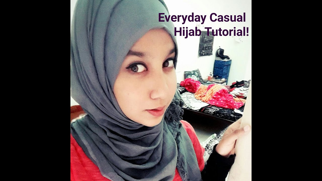 Hijab Tutorial Everyday Casual Hijab Style Youtube