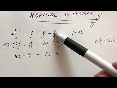 MA8 rovnice se zlomky - úvod from YouTube · Duration:  7 minutes 17 seconds