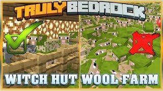 Truly Bedrock S1E38 WITCH HUT WOOL FARM  | Minecraft Bedrock Edition SMP, MCPE, MCBE