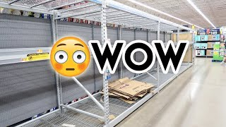 THE PSYCHOLOGY OF SCARCITY 😲 WHAT MY WALMART LOOKS LIKE ON MARCH 13 2020