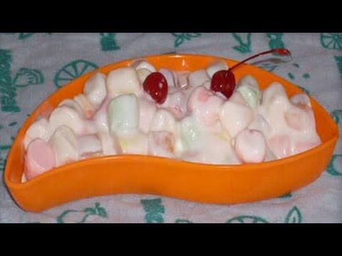 Postre para fiesta ensalada de fruta y bombones - Postres con frutas faciles ...