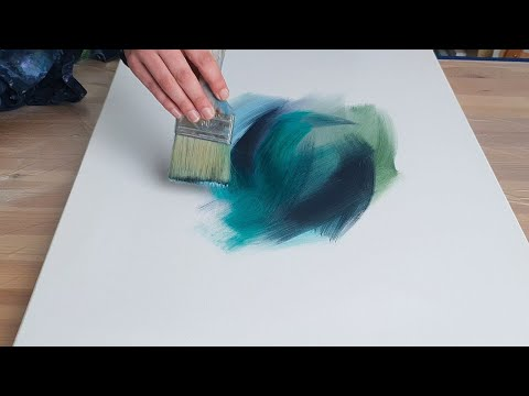 7 Abstract Acrylic Paintings / Satisfying Art - Easy How to Paint
