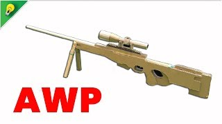 How To Make AWP  [Counter-Strike] Sniper Rifle That Sh00ts - Amazing Cardboard Gun [DIY]