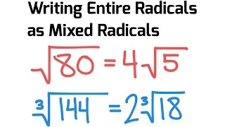 How To Simplify a Radical