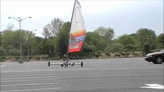 Senior design land sailing yacht